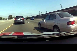Car brake checks people on highway
