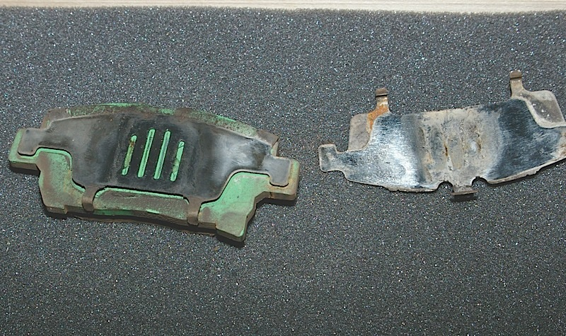 What kills Prius brake pads is corrosion of the backing plates and shims.