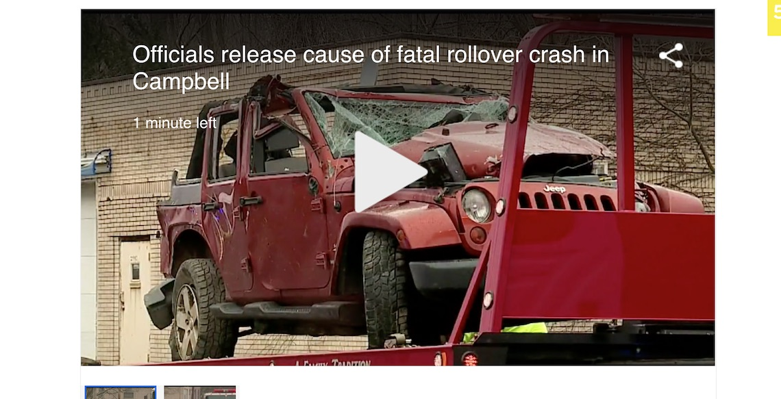 Fatal Jeep Crash Caused By Neglected Brakes