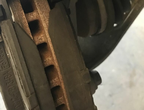 Cheap Brake Pads Cause Overlap of Rotor